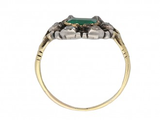 Georgian emerald and diamond ring berganza hatton garden
