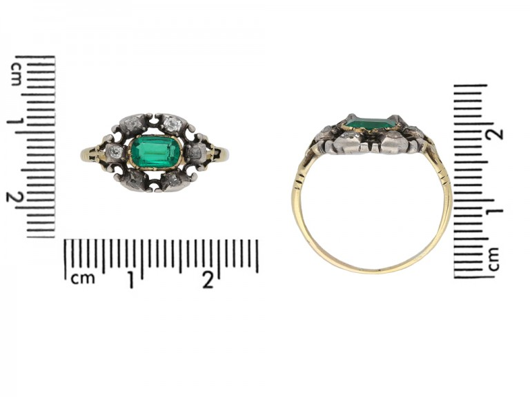 Georgian emerald and diamond ring berganza hatton garden
