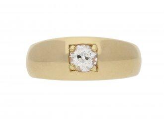Victorian diamond gypsy ring English 1900 Berganza hatton garden