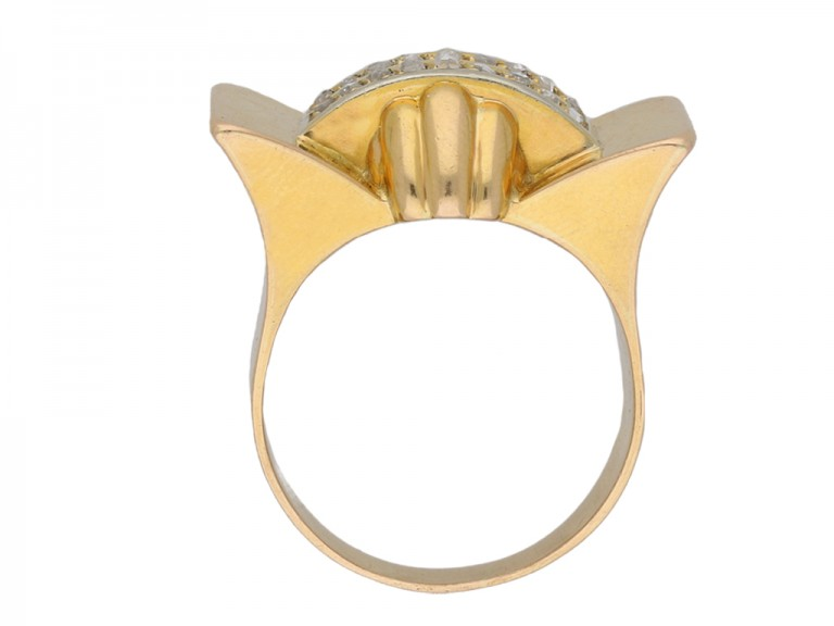 Rose cut diamond cocktail ring berganza hatton garden