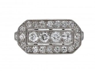 Diamond cluster ring by Kohn berganza hatton garden