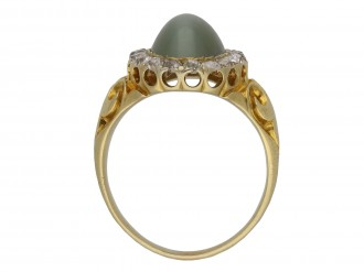 hawk's eye quartz coronet cluster ring berganza hatton garden