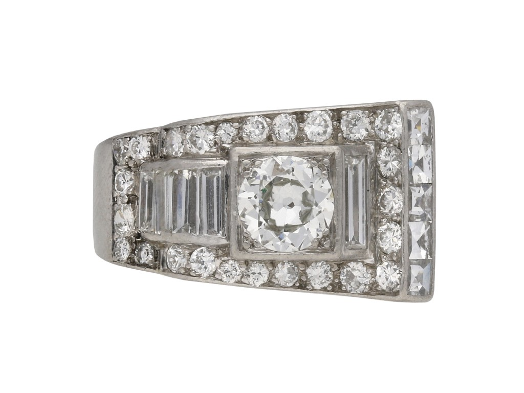 Art Deco diamond dress ring berganza hatton garden
