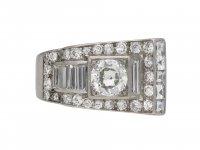 Art Deco diamond dress ring berganza hatton garden
