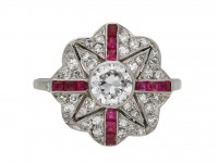 Belle Époque ruby and diamond ring berganza hatton garden