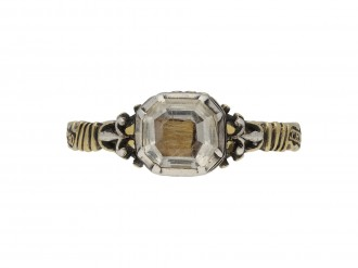 Georgian crystal and enamel memorial ring berganza hatton garden