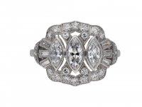 Vintage three stone diamond cluster ring berganza hatton garden