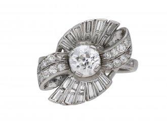 Diamond cluster ring, American berganza hatton garden