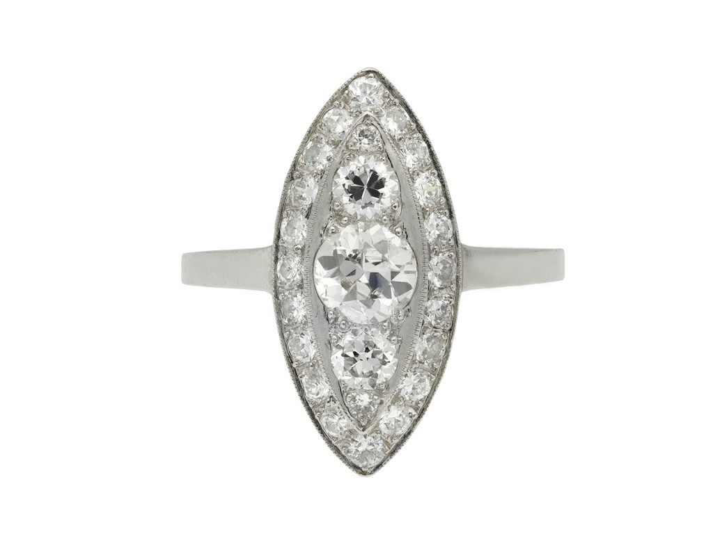 Diamond cluster ring hatton garden