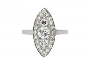 Diamond cluster ring hatton garden