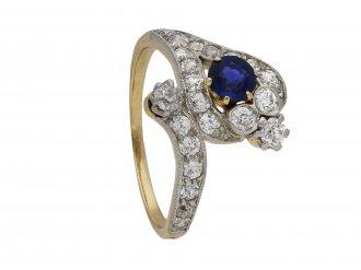 Edwardian sapphire and diamond snake ring berganza hatton garden