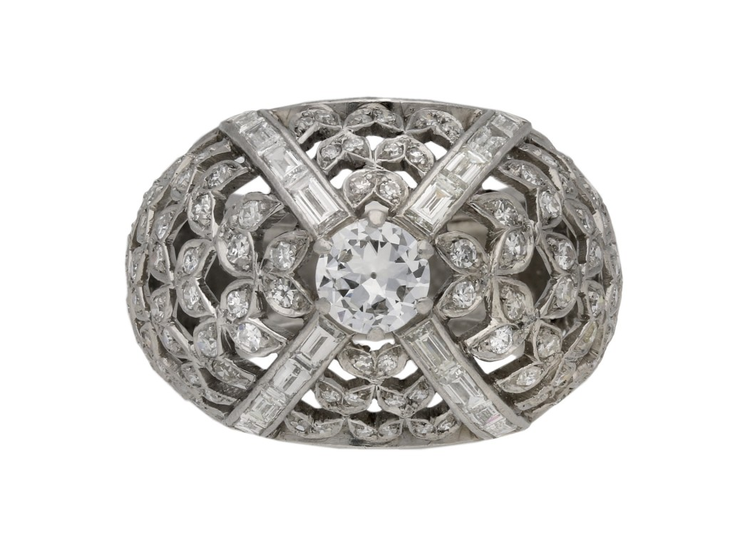 Diamond bombé cocktail ring berganza hatton garden