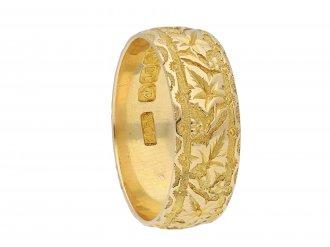 Carved wedding ring hatton garden