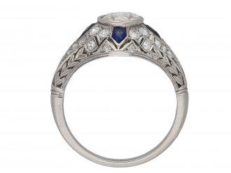 Diamond and calibré cut sapphire ring berganza hatton garden