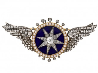 Attributed Garrard automated turban brooch berganza hatton garden