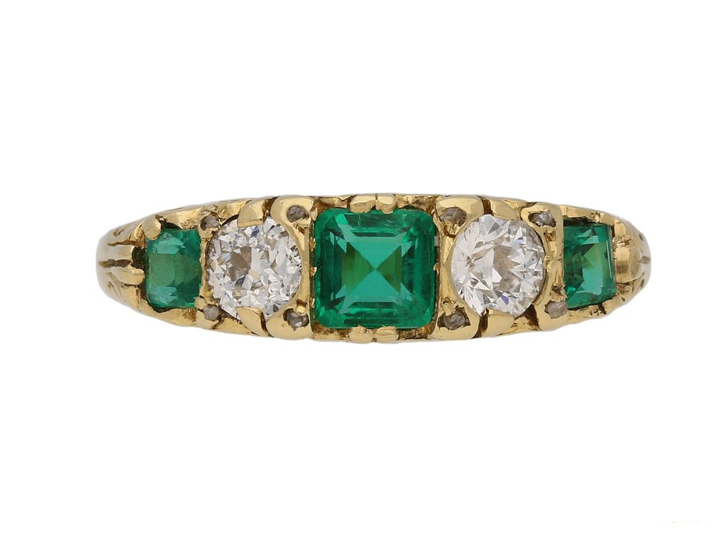 antique diamond emerald carved ring hatton garden berganza