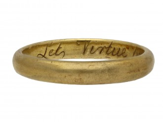 Gold posy ring by John Harvey, London berganza hatton garden