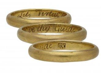 Gold posy ring by John Harvey, London berganza hatton garden