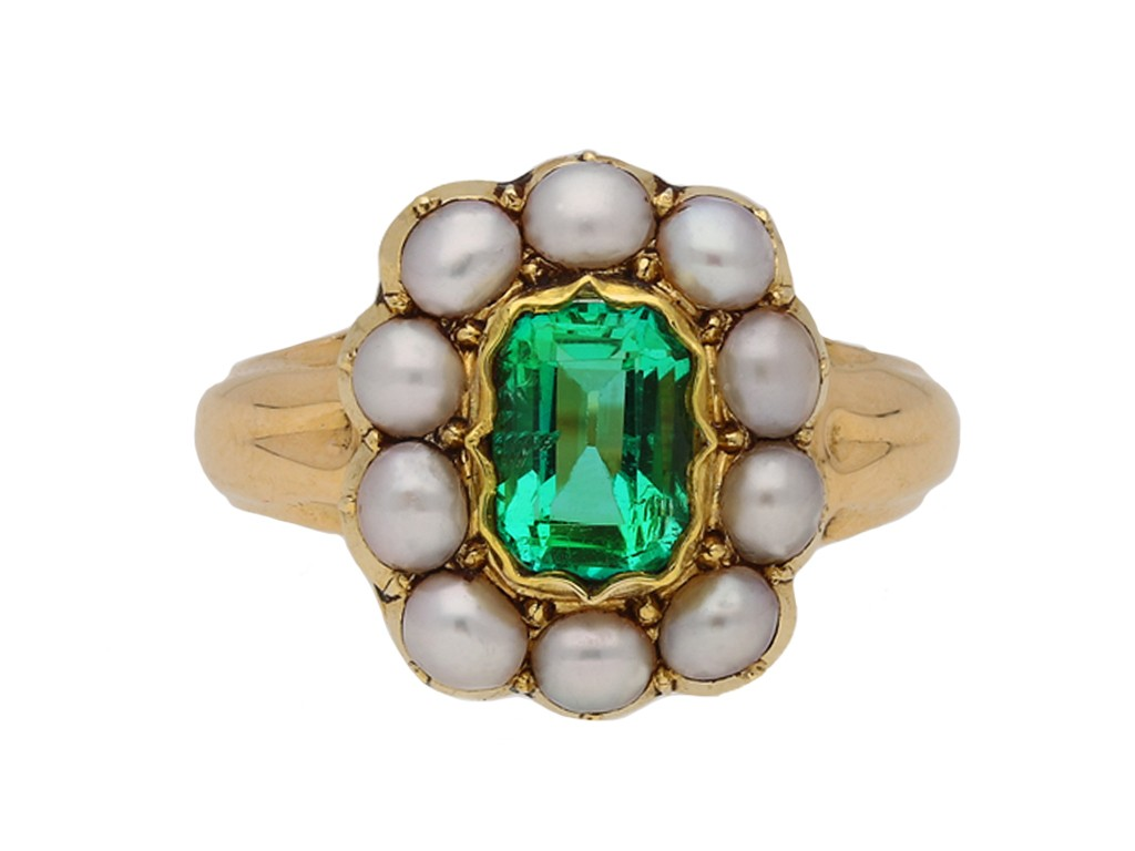 emerald pearl ring ring hatton garden berganza