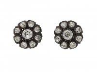 Victorian diamond cluster earrings berganza hatton garden