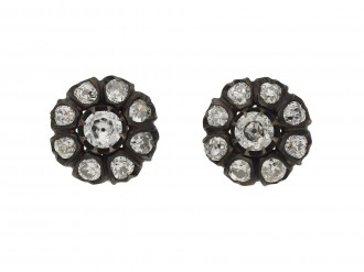 Victorian diamond cluster earrings berganza hatton garden