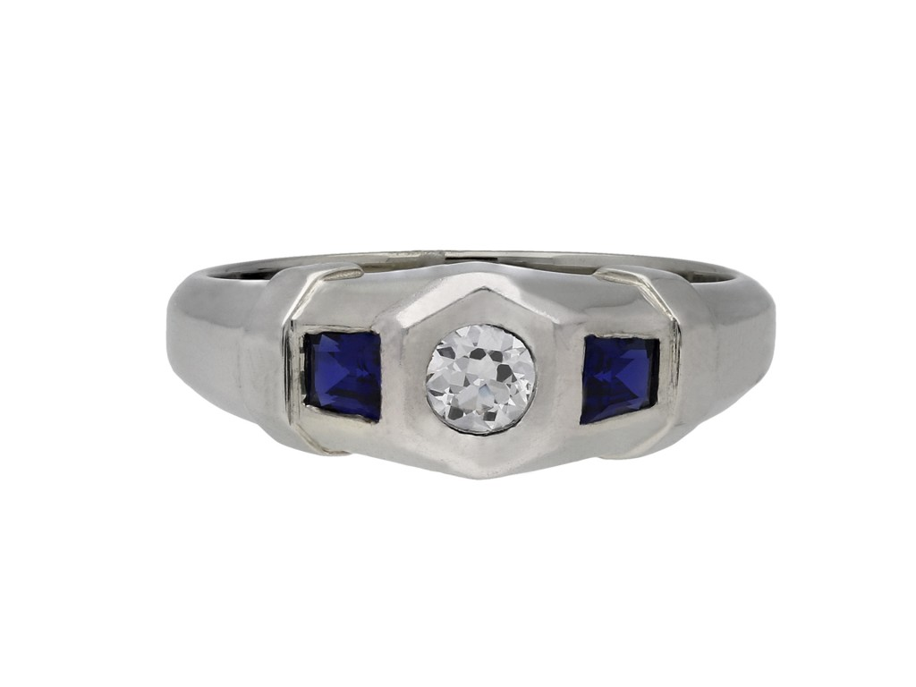 Diamond and sapphire ring hatton garden berganza