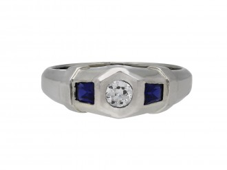 Diamond and sapphire ring hatton garden berganza