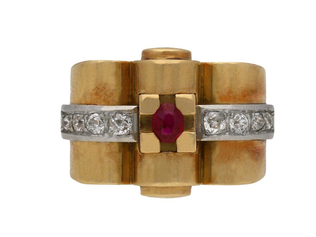 Ruby and diamond cocktail ring berganza hatton garden
