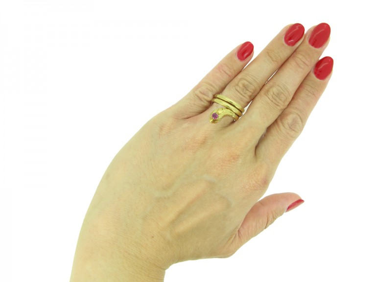 Ruby snake ring berganza hatton garden