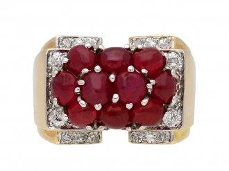 Trabert & Hoeffer Mauboussin Ruby Ring berganza hatton garden