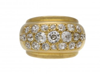 Old cut diamond ring, French berganza hatton garden