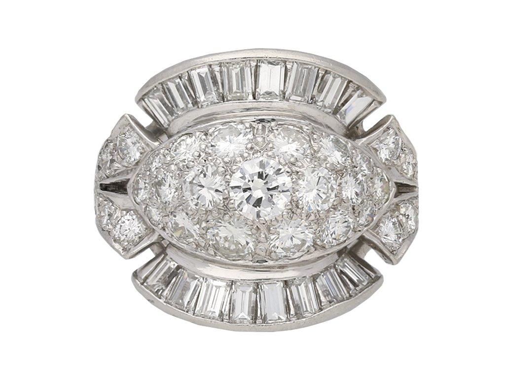 Diamond cocktail ring American circa 1950 berganza hatton garden