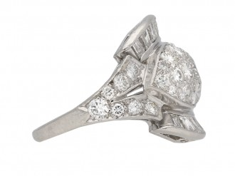 Diamond cocktail ring American circa 1950 berganza hatton garden