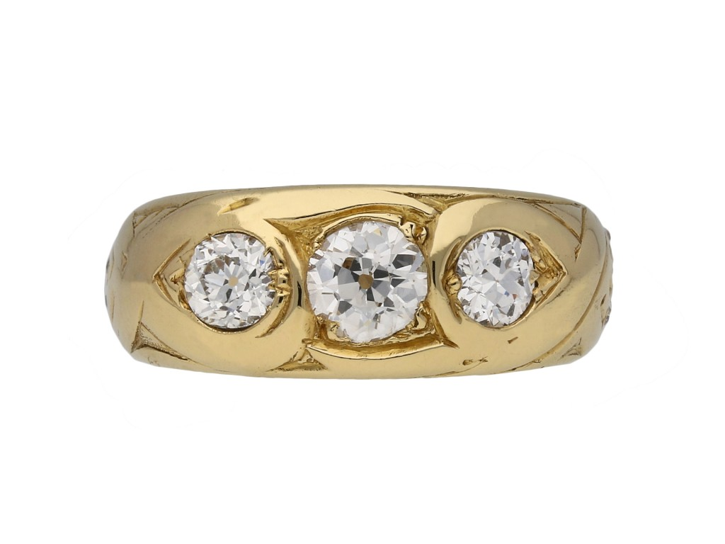 Victorian three stone diamond ring berganza hatton garden
