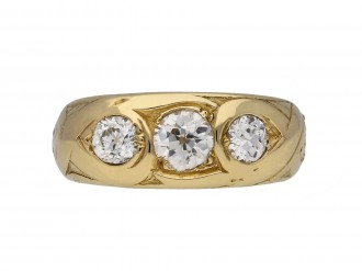 Victorian three stone diamond ring berganza hatton garden