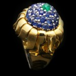 Jean Schlumberger for Tiffany & Co. emerald and sapphire ring, circa 1960.