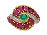 Marchak emerald ruby diamond ring berganza hatton garden