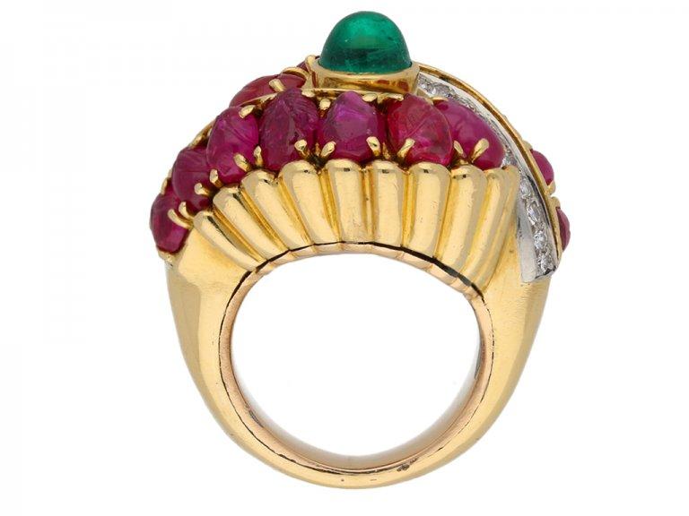 Marchak emerald ruby diamond ring berganza hatton garden