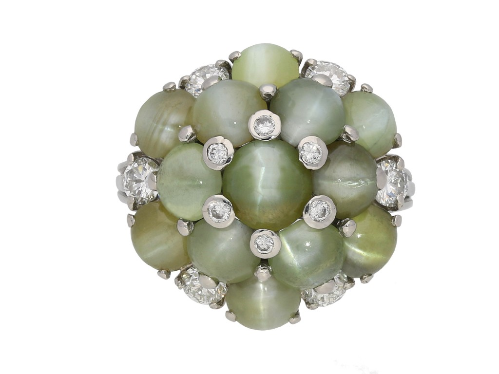 Oscar Heyman chrysoberyl and diamond ring berganza hatton garden