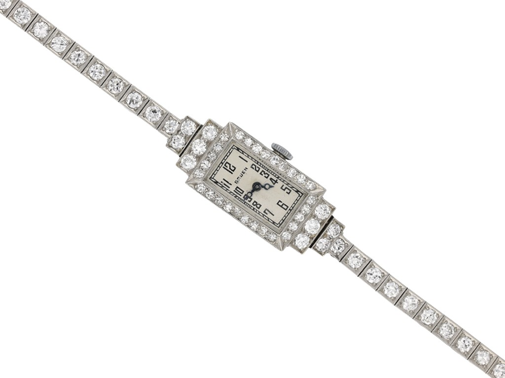 Gruen diamond set wristwatch berganza hatton garden