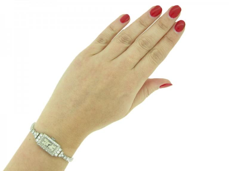 Gruen diamond set wristwatch berganza hatton garden