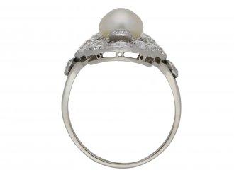 Belle Époque pearl and diamond ring berganza hatton garden