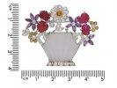 Gem set flower vase brooch berganza hatton garden