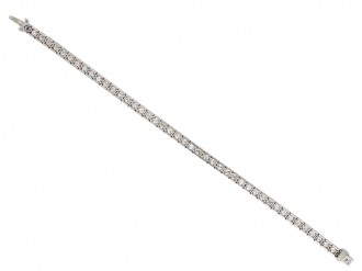 Diamond set engraved line bracelet berganza hatton garden