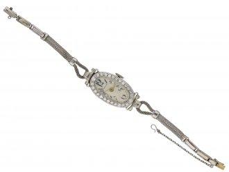 Diamond and platinum wristwatch Hamilton berganza hatton garden
