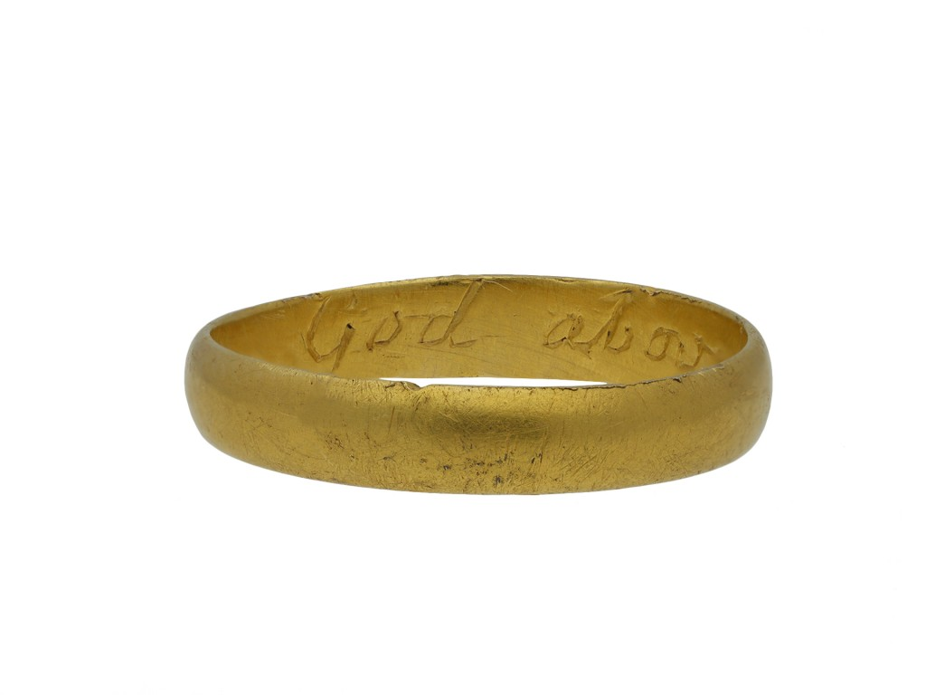 Gold posy ring God above increase our love hatton garden