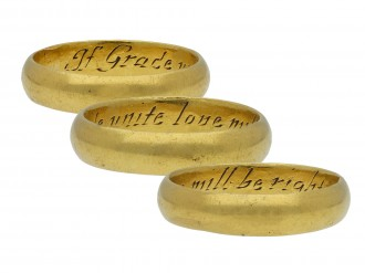 Gold posy ring If Grace unite love will be right hatton garden