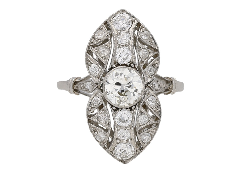 Belle Époque diamond ring berganza hatton garden