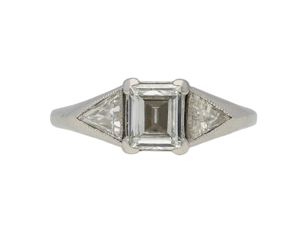 Art Deco solitaire diamond engagement ring berganza hatton garden