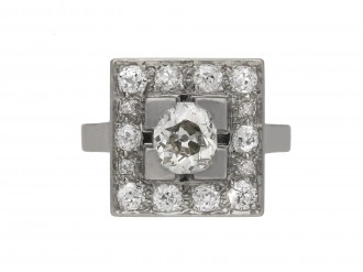Art Deco diamond cluster ring hatton garden berganza